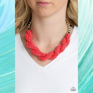 Savannah Surfin Coral Seed Bead Necklace Set